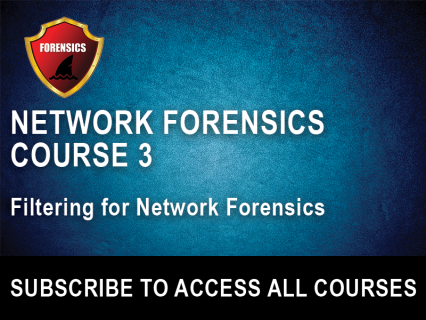 NF Section 3: Filtering for Network Forensics (NFW-3)