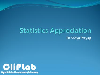 Statistics Appreciation