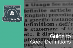 Guide to Good Definitions (02-steward-600)