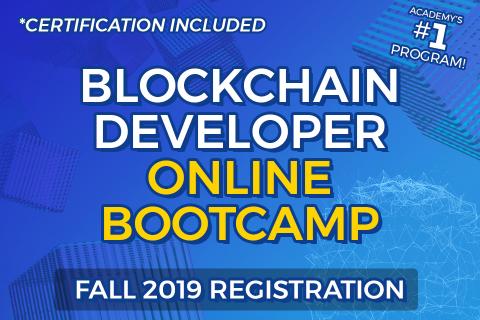 Blockchain Developer Online Bootcamp Registration: Fall 2019 (BDB-2019)