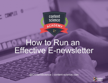 Running an Effective E-Newsletter