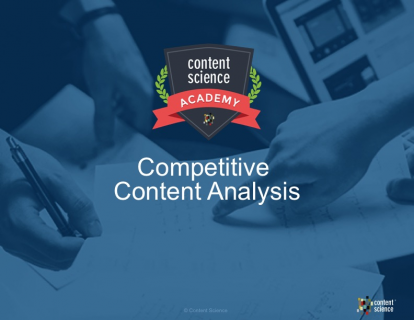 Competitive Content Analysis