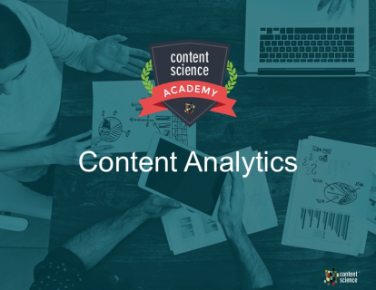 Content Analytics for Content Design