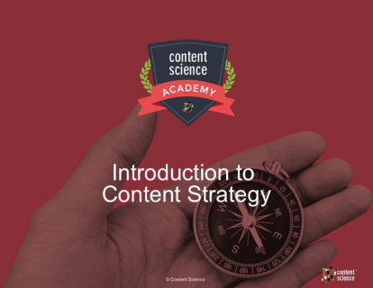 Introduction to Content Strategy