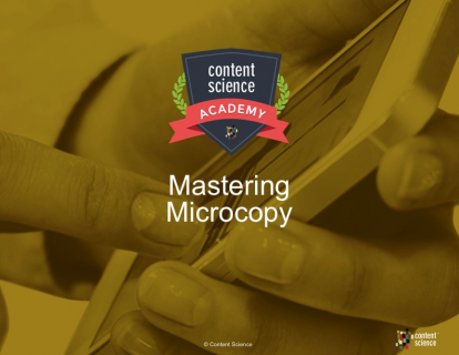 Mastering Microcopy