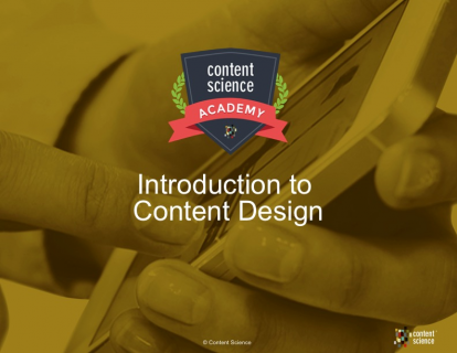 Introduction to Content Design