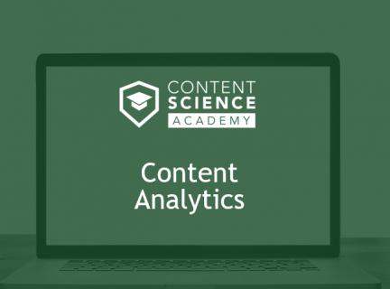 Content Analytics for Content Design