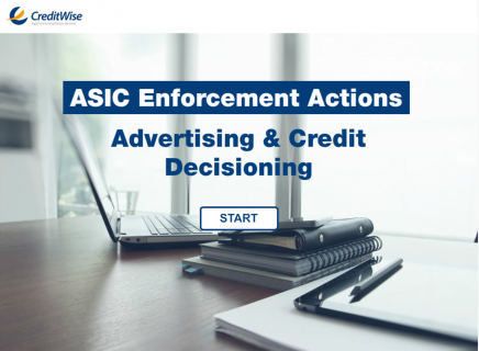 ASIC Enforcement Actions: Advertising and Credit Decisioning (G)