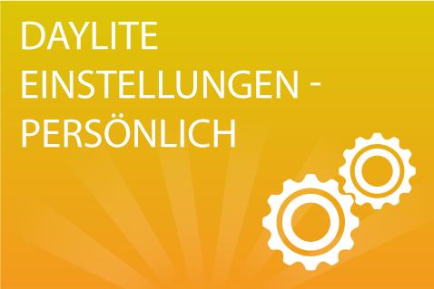 Daylite Einstellungen Persönlich (DE010)