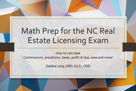 Math Prep for the NC Licensing Exam