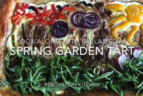 Paula's Lockdown Pantry - Spring Garden Tart with Blueberry Frozen Yoghurt (HN_3e)