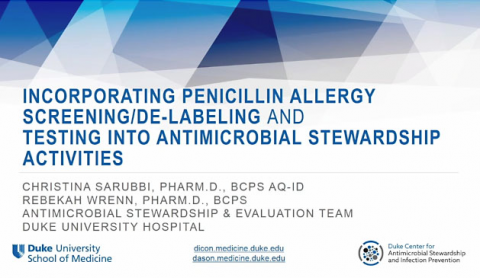Incorporating Penicillin Allergy Screening into Antimicrobial Stewardship
