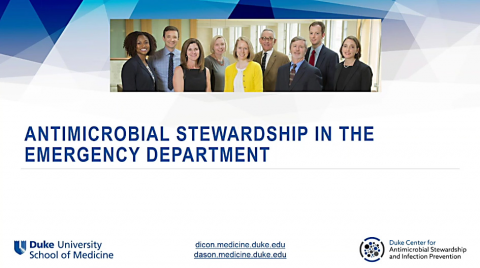 Antimicrobial Stewardship Through the Emergency Department