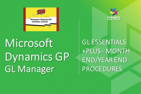 Dynamics GP - GL Manager