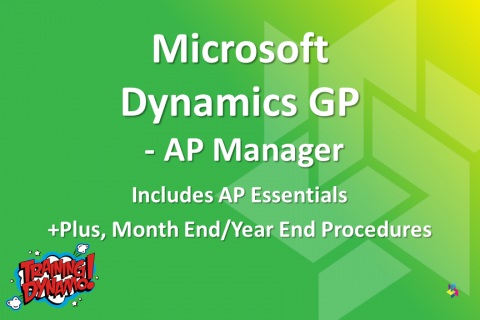 Dynamics GP - AP Manager