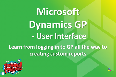 Dynamics GP - User Interface