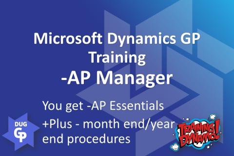 Dynamics GP - AP Manager