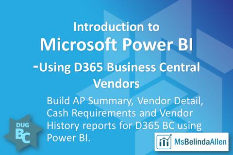Intro to Microsoft Power BI - BC Vendors