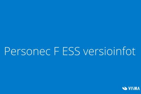 Personec F ESS versioinfot