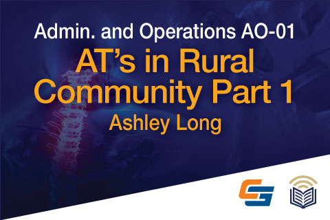 AO-01: AT's in Rural Community Part 1
