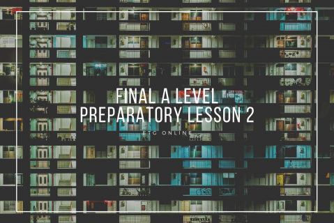 ALP2 - Final A Level Preparatory Lesson 2 (ALP2)