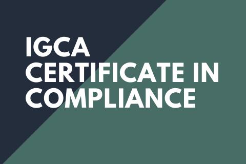 IGCA Certificate in Compliance (GRC_IGCA_A21)
