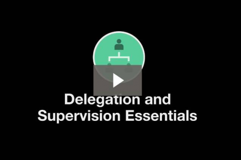 Introduction to Delegation and Supervision (D&E 0-0)
