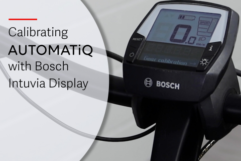 Calibrating AUTOMATiQ with Bosch Intuvia (E-A08)