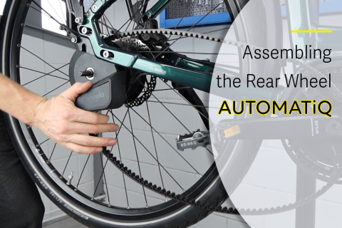 Assembly of a rear wheel with AUTOMATiQ hub interface (E-A03)
