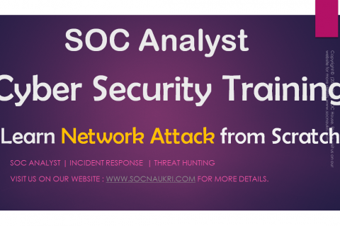 Cyber Security SOC Analyst - Network Attacks from Scratch (SOCANALYST1)