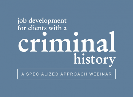 Job Development for People with a Criminal History (3)