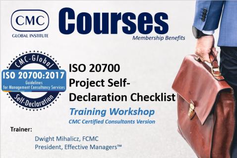 GIC-003 ISO20700 Project Self-Declaration Workshop (Module 3) [EN] (GIC-003)