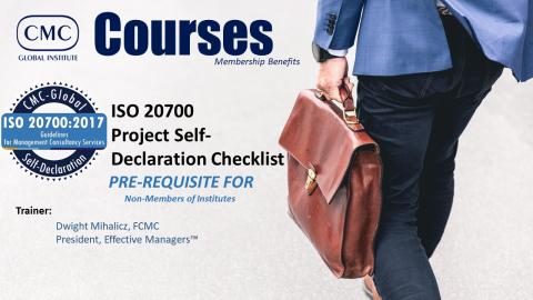 GIC-001 ISO20700 Pre-Requisite Non IMC Members (Module 1) [EN] (GIC-001)