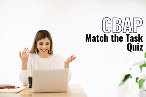 CBAP Match the Task (BA2107)