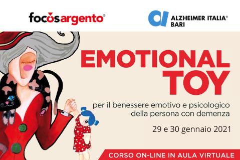 EMOTIONAL TOY PER IL BENESSERE EMOTIVO E PSICOLOGICO DELLA PERSONA CON DEMENZA, ECM 29-30 GEN 2021 (A01)