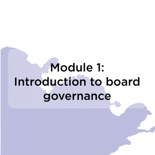 Module 1: introduction to board governance