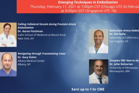 Emerging Techniques in Embolization (CME21-101)