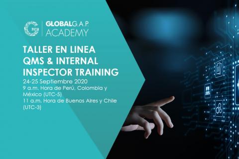 24-25 Septiembre 2020 | Taller en línea QMS and Internal Inspector | Español (39-349)