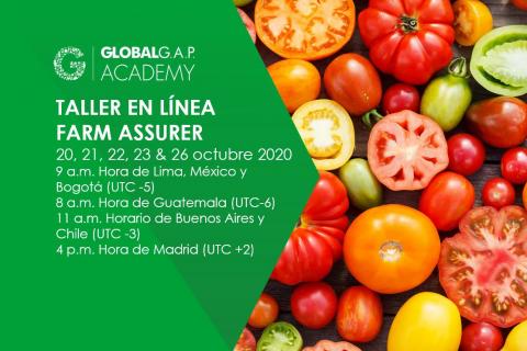 20-23 & 26 Octubre 2020 | Taller en línea Farm Assurer | Español (48-357)