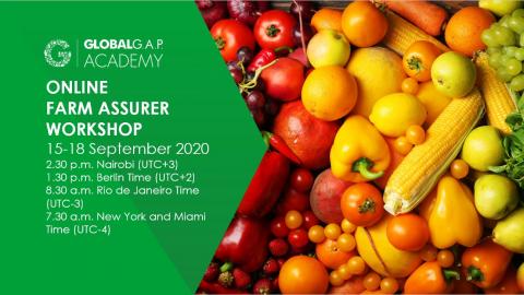 15-18 September 2020 | Online Farm Assurer Workshop | English (36-363)
