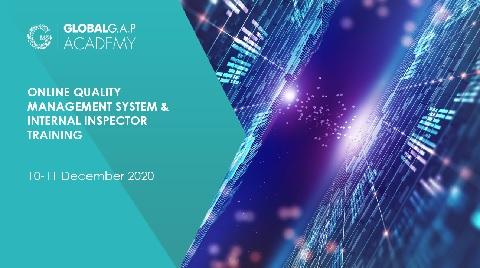 10-11 December 2020 | QMS and Internal Inspector Training | Online (66-364)