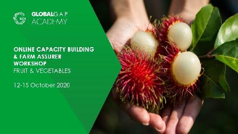 12-15 October 2020 | Farm Assurer Workshop (F&V) | Online (45-362)