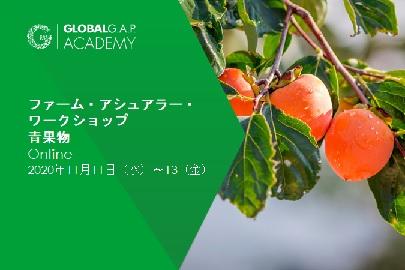 2020年11月11日(水)〜13日(金)| ファーム・アシュアラー・ワークショップ 青果物 | Online (53-390)