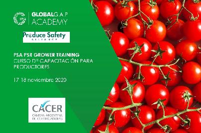 17-18 noviembre 2020   Taller PSA PSR Grower Training   En línea (54-415)