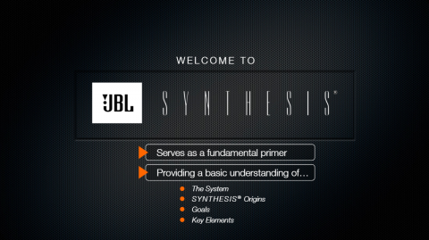 JBL Synthesis Systems Introduction