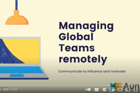 Managing Global Teams Remotely (English Video)(Free) (aun001)
