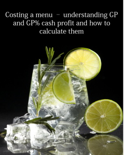 How to Cost a drink or Food Menu