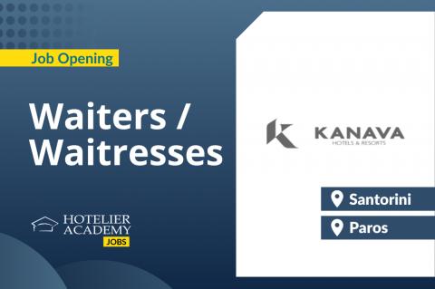 Waiters/Waitresses | Kanava Hotels | Santorini & Paros