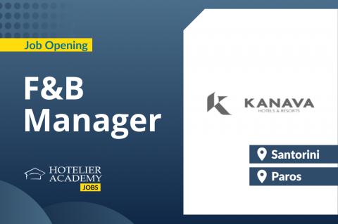 F&B Manager | Kanava Hotels | Santorini & Paros