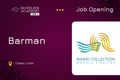 Barman | Anais Collection Hotels & Suites